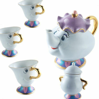 Beauty And The Beast Teapot Cartoon Mug Mrs Potts Chip Tea Pot Cup Set Gift Xmas