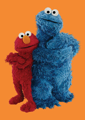 Sesame Street Elmo & Cookie Monster Greeting Card Retro Birthday Friends Thank