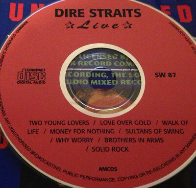 Dire Straits Live CD Walk Of Life Money For Nothing Sultans Of Swing Solid Rock