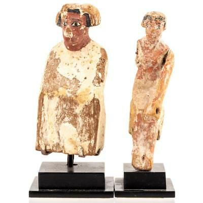 Egypt. Two Wooden Funerary Figures Removed From a Boat; Middle Kingdo... Lot 517