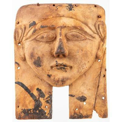 Egypt Over-Life Size Broad Wooden Female Kah Mask Lot 509