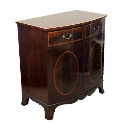 Reproduction Antique Style Mahogany Media Music Cabinet Sideboard