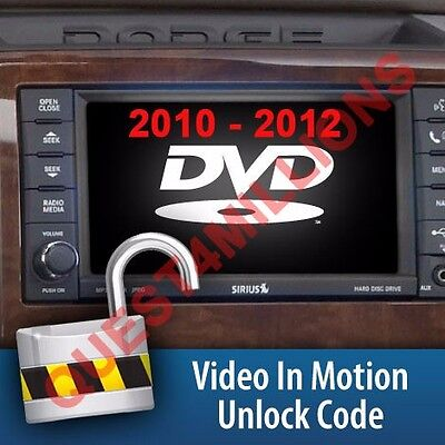 H&s Video In Motion Unlock Code For 2010-2012 Dodge With Mini Maxx