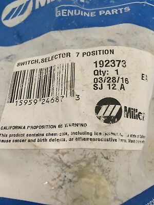 miller  switch, selector 7 position item number 192373 new in bag