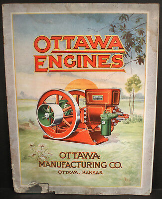 Rare 1916 Ottawa Engines Hit & Miss Engine Catalog Great Color