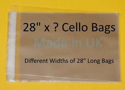 "28"" x ? - Cellophane Display Bag for Photo Mounts - Different Lengths Available"