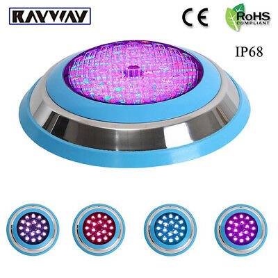54W RGB Led Underwater Light Swimming Pool Fountain SPA Lights Lamp Outdoor