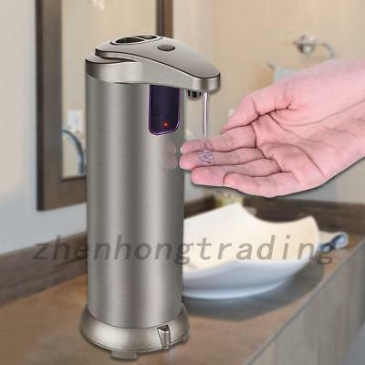 Stainless Steel Automatic IR Sensor Touchless Soap Liquid Dispenser Free Hand AU