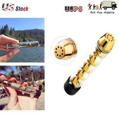 Quality Tank 510 Tobacco Pipe Glass Smoking Cigarette Spiral Pipes Gift Holder