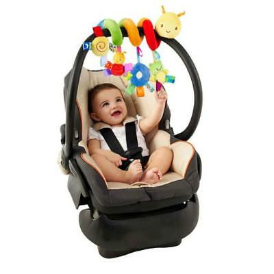 Soft Spiral Plush Toy For Bay Crib Cot Pram Stroller Cute Baby Travel Toy