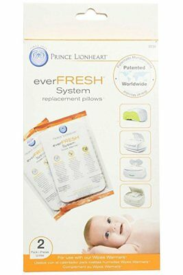 NIB Prince Lionheart Ever Fresh System 2 Pack Replacement Pillows Wipes Warmer