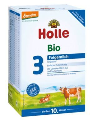 6 x HOLLE Stage 3 - ORGANIC BIO BABY FORMULA FROM GERMANY 6 x 600 g TOP PRICE !