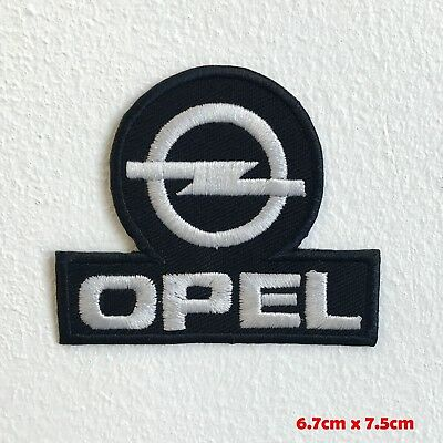154df09f9ba6 Opel Automobiles motorsports black logo Iron Sew on Embroidered Patch