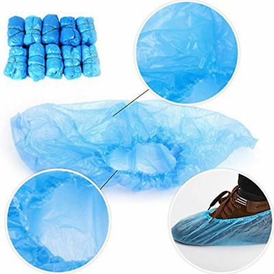 Disposable plastic anti slip shoe covers cleaning protection Outer Door Gardens