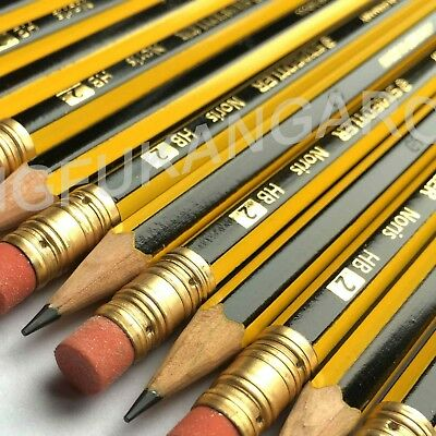 HB2 STAEDTLER NORIS PENCILS with ERASER RUBBER TIP DRAWING SCHOOL OFFICE