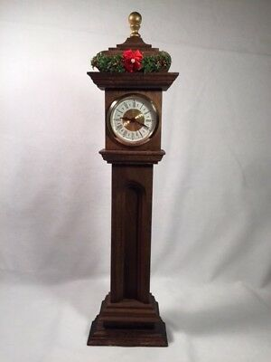 """Hand crafted for Byers Choice Carolers, """"TALL CASE/GRANDFATHER CLOCK"""""""