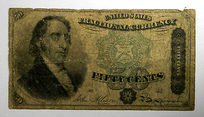Fr # 1379 50 Cents Fourth Issue Fractional - Dexter - Good - Priced Right!
