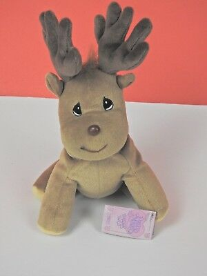 Precious Moments Tender Tails Plush Reindeer With Tags 1998 (M-RE4)