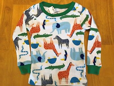New Infant Boy's Carter's White Zoo Animal Lounge Shirt Size 24 months