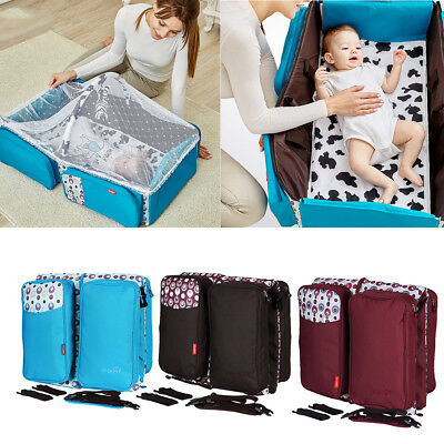 Prettyia Portable Foldable Infant Baby Travel Cot Sleeping Bed Crib Bassinet