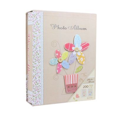 Vintage Style Flowers Photo Album Storage Holder Picture Book Images Scrapb M3O2