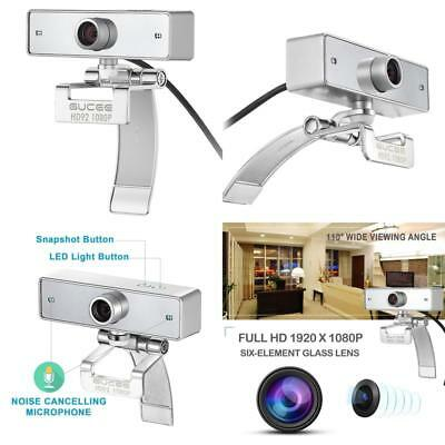 Webcam 1080P Gucee Hd92 Web Camera For Skype With Buil In Hd Microphone 1920