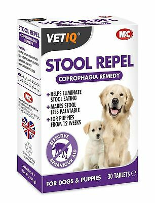 VetIQ STOOL REPEL Tablets Dog Puppy Coprophagia Helps Stop Deter Eating Faeces
