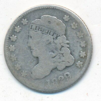 1829 Capped Bust Silver Half Dime-Nice Circulated Type Coin-Ships Free!