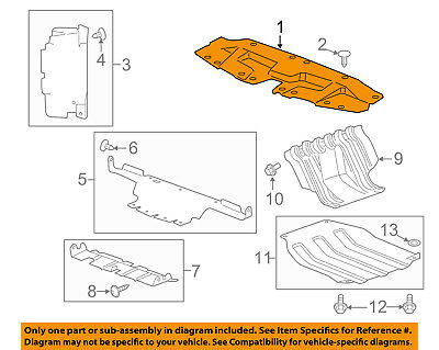 Cadillac GM OEM Radiator Support Grille-Sight Shield Splash Cover Panel 22781448