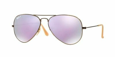 Ray-Ban Women's Polarized Aviator Lilac Flash Bronze-Copper Frame Rb3025 167/1R
