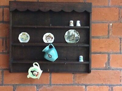 Antique Miniature Dresser/shelf Unit Made From Oak Ideal For Small China Items