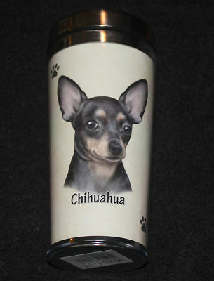 Chihuahua Black Dog Stainless Steel Insulated Travel Tumbler Thermos