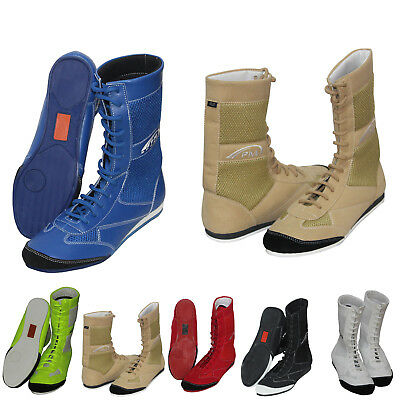Boxing/ Wrestling 100%  Genuine Leather Boots in Junior and Adult sizes
