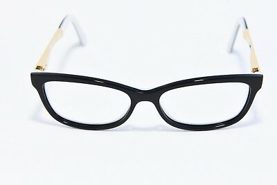 Kate Spade Angelisa S0T Acetate Eyeglass Frames Black White Gold 51-15-135