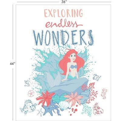 Disney Little Mermaid Ariel Exploring Endless Wonders Cotton Quilting Fabric Pnl