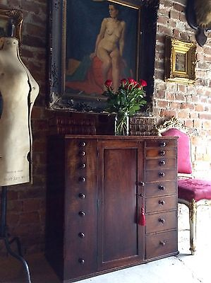 Haberdashery Antique Cabinet Estate  Shop Mahogany Victorian19th Century