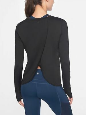 e6d62d9cd6ecdf NWT ATHLETA Sunlover UPF Tulip Back Top - 1X - Black - $59 Beach Fitness  Travel