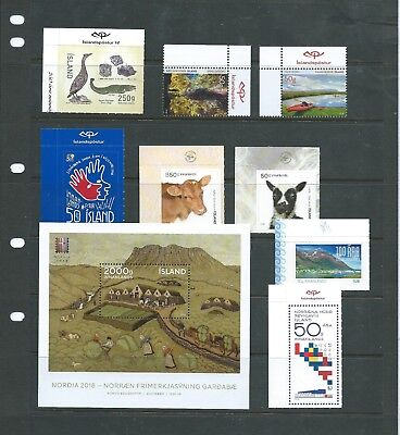 Range of 2018 issues including Young Animals, Tourist, Nordia m/s etc MUH ML580