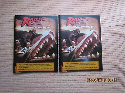 LOT OF 2 1981 RAIDERS OF THE LOST ARK Coloring Book  Uncolored / Indiana Jones
