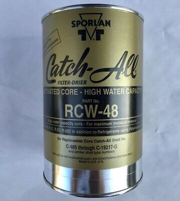 Sporlan RCW-48 Catch-All Filter Drier, Activated Core - High Water Capacity!