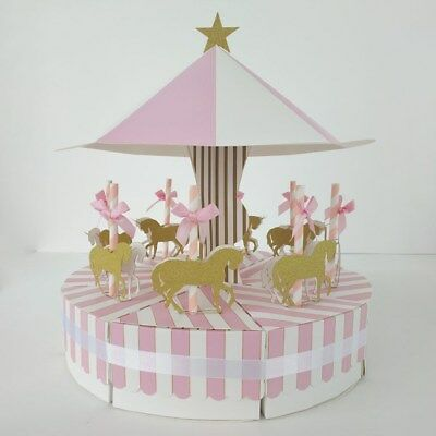 Vintage Carousel Horse Candy Box Children Kids Chocolate Gifts Party Supplies