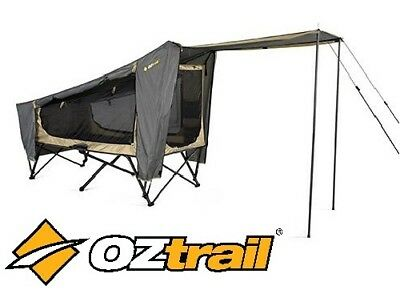 Oztrail Easy Fold Stretcher Tent Outdoor Cot Swag Bed 1 Person FBS-SSET-C