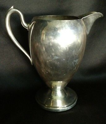 Academy Silver On Copper Water Pitcher 5050 Vintage Table Serveware