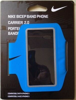 NEW Nike Bicep Band Phone Carrier 2.0 Compatible iphone 5 - Blue