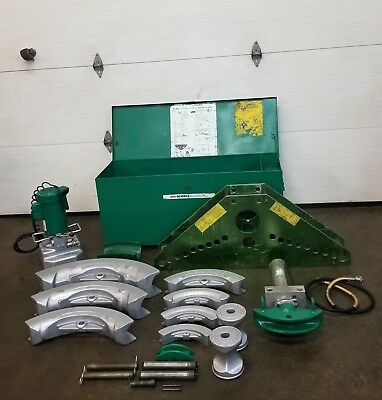 "Greenlee 885 Rigid Ips Hydraulic Pipe Bender 1-1/4"" - 5"" W/ 960 Pump 884  #2  👍"
