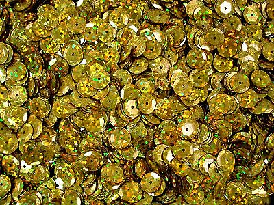 Sequins Cup 8mm Laser Bright Gold 20g Dancing Costumes Beading  FREE POSTAGE