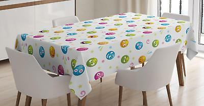 Emoji Tablecloth Ambesonne 3 Sizes Rectangular Table Cover Home Decor