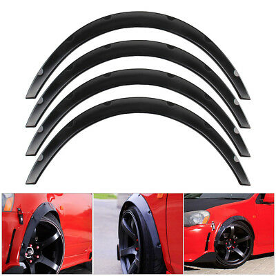 Universal Black 4x Auto Car SUV Tire Fender Flares Wheel Eyebrow For BMW Benz