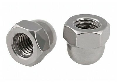 M8 x 1.25mm Pitch Dome Nuts Acorn Hex Cap Nuts 304 A2-70 Stainless Steel DIN1587