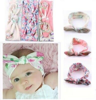 a03406daf7fea LOVELY NEW BABY Toddler Girl Kid Bow Rabbit Flower Hair Band Turban ...